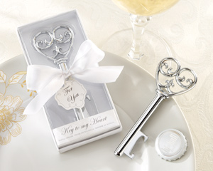 Simply Elegant Key To My Heart Bottle Opener-Simply Elegant Key To My Heart Bottle Opener