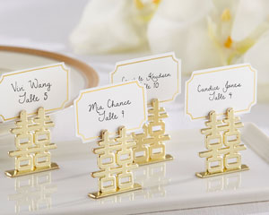 """DOUBLE HAPPINESS"" PLACE CARD HOLDERS (SET OF 6)-DOUBLE HAPPINESS PLACE CARD HOLDERS (SET OF 6)"