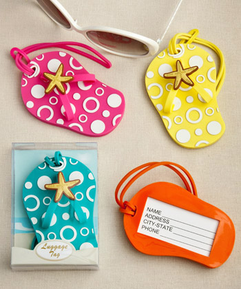 Flip Flop luggage tags in decorative 24 box (Set of 24)-Flip Flop luggage tags in decorative