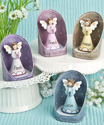 Gorgeous Guardian Angel Figurines - set of 12-Gorgeous Guardian Angel Figurines