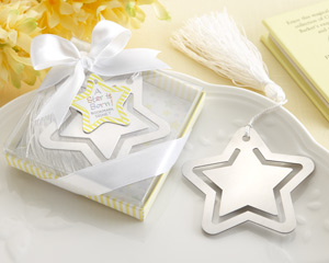 A Star is Born Metal Bookmark with White-Silk Tassel-Bookmark baby shower favor,baby shower party favors,baby shower favors ideas, ideas for baby shower favors, creative baby shower favors,Personalzied Favors For Baby Showers,Baby Shower Favors For Guests