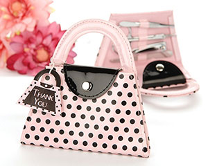 'Pink Polka Purse' Manicure Set-