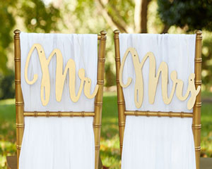 """Gold Promises"" Classic Mr. and Mrs. Chair Backers-Gold Promises Classic Mr. and Mrs. Chair Backers"