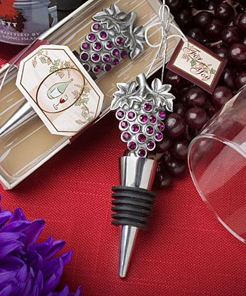 Vineyard Collection wine bottle stopper favors-wine wedding favors, wine wedding ideas, wine wedding gift