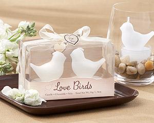 """Love Birds"" White Bird Tea Light Candles-Love Birds White Bird Tea Light Candles"