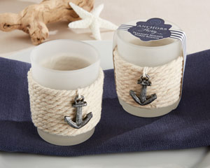 """ANCHORS AWAY"" ROPE TEALIGHT HOLDER (SET OF 4)-ANCHORS AWAY ROPE TEALIGHT HOLDER (SET OF 4)"
