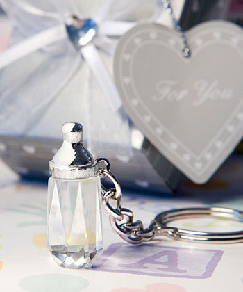 Choice Crystal Collection baby bottle design key chain favors-Choice Crystal Collection baby bottle design key chain favors