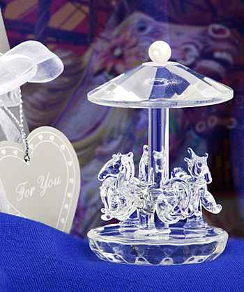 Choice Crystal Collection carousel favors-Choice Crystal Collection carousel favors