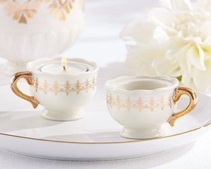CLASSIC GOLD TEACUPS TEALIGHT HOLDER (SET OF 4)-CLASSIC GOLD TEACUPS TEALIGHT HOLDER (SET OF 4)