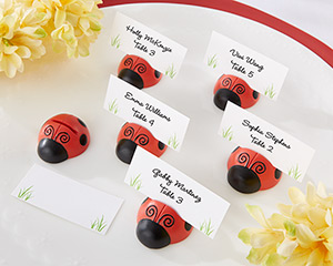 """Cute as a Bug"" Ladybug Place Card/Photo Holder (Set of 6)-Cute as a Bug Ladybug Place Card/Photo Holder (Set of 6)"