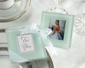Forever Photo Frosted Glass Coasters-wine wedding favors,placecards, reception card, place card holders, card place holders, wedding table names, placecard holders, wedding table numbers, place card holder, wedding table number ideas, wedding table cards