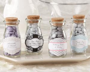 Vintage Personalized Milk Favor Jar (Wedding) (Set of 12)-Vintage Personalized Milk Favor Jar (Wedding)