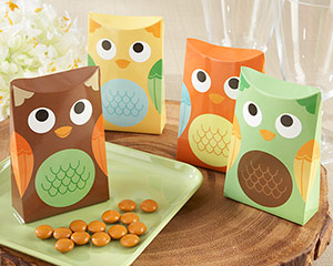"""Whooo's Happy?"" Owl Favor Box (Set of 24) (Available Personalized)-Whooo's Happy? Owl Favor Box (Set of 24) (Available Personalized)"