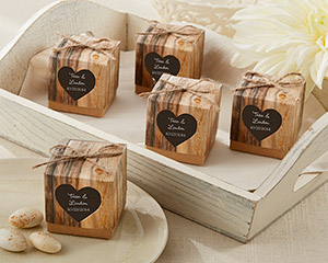 """Hearts in Love"" Rustic Favor Box (Set of 24)-Hearts in Love Rustic Favor Box (Set of 24)"