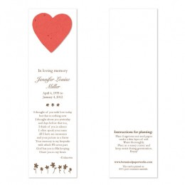 Heart Memorial Bookmarks-Heart Memorial Bookmarks