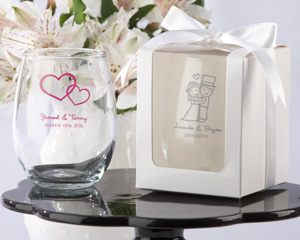 Personalized Stemless Wine Glass-Personalized Stemless Wine Glass Party Favors