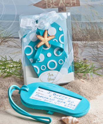 Flip flop luggage tag favors-Flip flop luggage tag favors