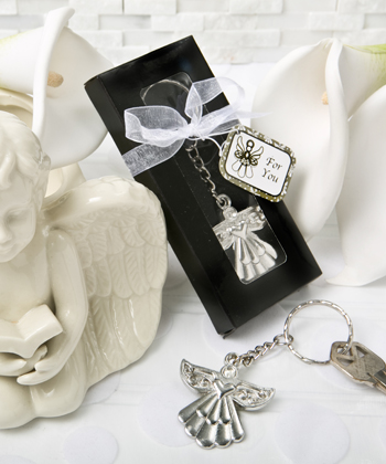 Guardian Angel Key Ring Favor-Guardian Angel Key Ring Favor