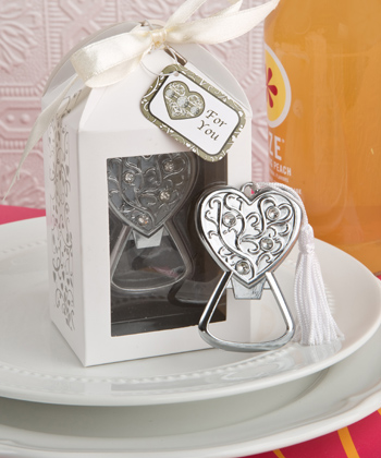 Spectacularly Packaged Heart Bottle Opener Favor-Spectacularly Packaged Heart Bottle Opener Favor