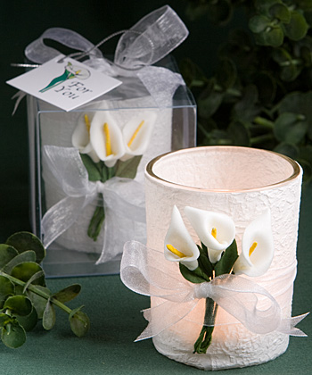 Stunning calla lily design candle favors-Stunning calla lily design candle favors