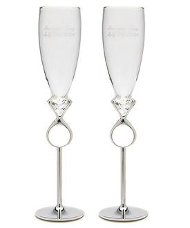 Diamond Ring Champagne Flutes-Wedding Toasting Flutes, Affordable Wedding Toasting Flutes by Weddingstar, Diamond Weddings, Diamond Wedding Ideas