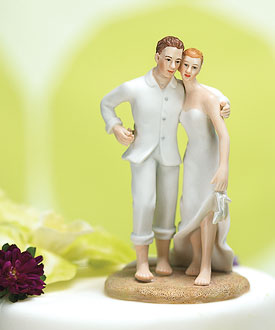 Beach Bride and Groom Cake Topper-weddingstar cake topper, beach wedding cake toppers, beach wedding cake topper decorations; unique wedding cake toppers, bride and groom cake toppers, Wedding cake toppers humorous, Wedding cake toppers bride and groom, Wedding cake toppers cheap, Beach Wedding cake topper ideas, Wedding cake toppers funny