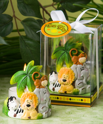 Jungle Critters Collection candle favors-Jungle Critters Collection candle favors