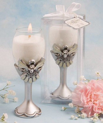 Angel design champagne flute candle holders-Angel design champagne flute candle holders