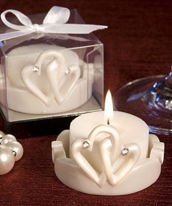 Interlocking Hearts Design Favor Saver Candles-Interlocking Hearts Design Favor Saver Candles