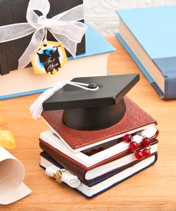 Graduation Hat And Books Trinket Box-Graduation Hat And Books Trinket Box