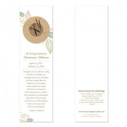 Crafter Memorial Bookmarks-Butterfly Memorial Bookmarks