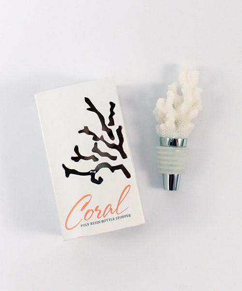 Coral Bottle Stopper-Coral Bottle Stopper Favors
