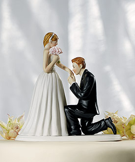 "A ""Cinderella Moment"" Figurine - Wedding Cake Topper-romantic wedding cake topper"