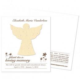 Angel Plantable Memorial Cards-Angel Plantable Memorial Cards