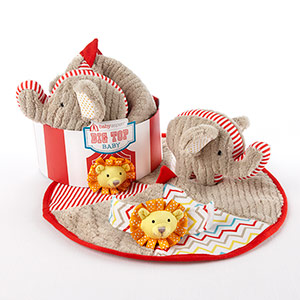 """Big Top Baby"" Three-Piece Baby Gift Set-Big Top Baby Three-Piece Baby Gift Set"