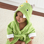 """My Little Monster"" Hooded Spa Robe-My Little Monster Hooded Spa Robe"