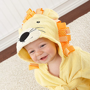 """Big Top Bath Time"" Lion Hooded Spa Robe-Big Top Bath Time Lion Hooded Spa Robe"