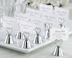 """Kissing Bell"" Place Card/Photo Holder (Set of 24)-Bell Wedding Place Card Photo Holder,placecards, reception card, place card holders, card place holders, wedding table names, placecard holders, wedding table numbers, place card holder, wedding table number ideas, wedding table cards"