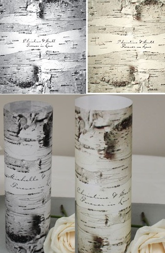 Birch Bark Vellum Luminary Wrap with sticker (Set of 12)-Birch Bark Vellum Luminary Wrap with sticker