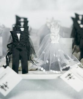 Bride Groom Candy Favor Bags - Set of 12-Bride Groom Candy Favor Bags, wedding favor bags, black and white wedding
