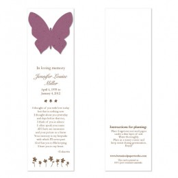 Butterfly Memorial Bookmarks-Butterfly Memorial Bookmarks