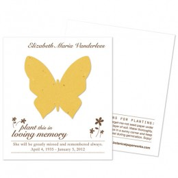 Butterfly Plantable Memorial Cards-Butterfly Plantable Memorial Cards