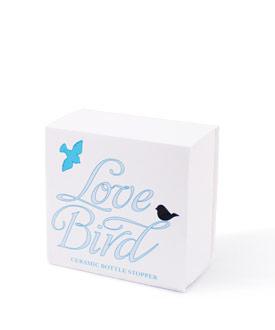 Ceramic Love Bird Bottle Stopper with Gift Packaging-Ceramic Love Bird Bottle Stopper