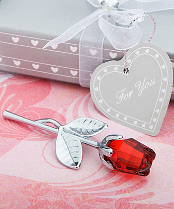 Choice Crystal Collection red rose favors-Choice Crystal Collection red rose favors
