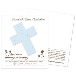 Cross Plantable Memorial Cards-Cross Plantable Memorial Cards