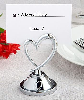 Heart themed place card holders-Heart themed place card holders