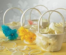 I Do . . . Color  Flower Girl Basket-I Do . . . Color Flower Girl Basket