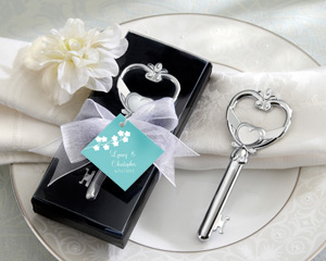 """Key To My Heart"" Victorian Style Bottle Opener-Victorian Style Bottle Opener wedding favors"
