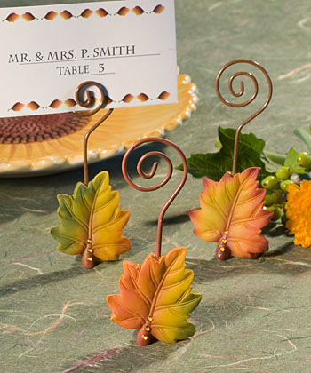 Leaf Design Place Card Holders-