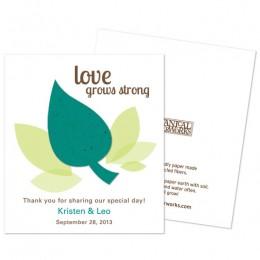 Leaf Plantable Seed Paper Favor-Leaf Plantable Seed Paper Favor